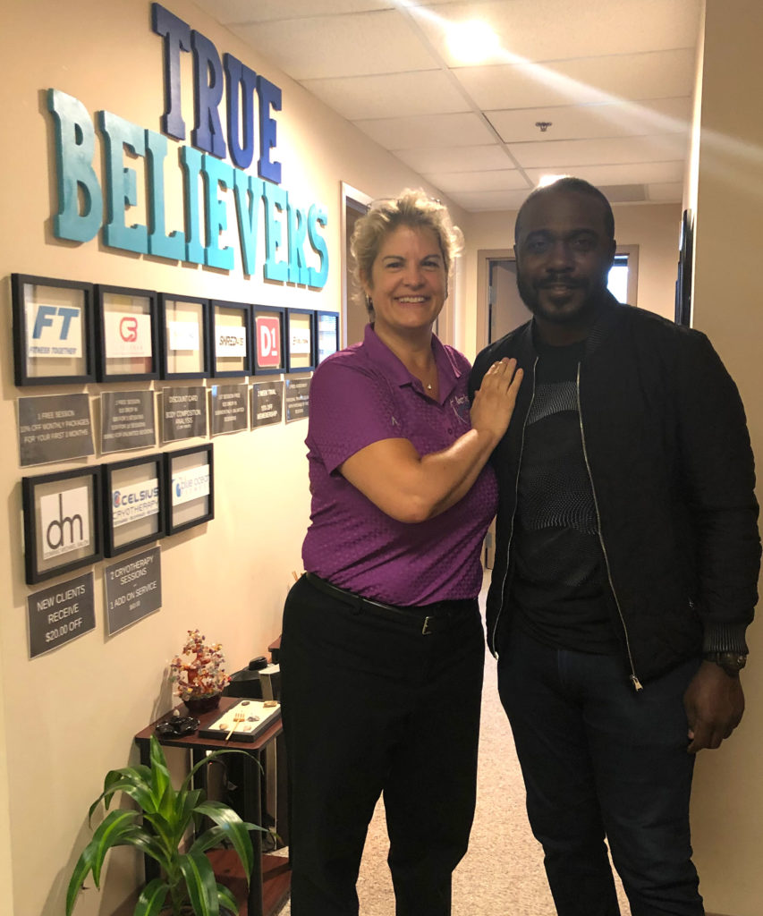 Knot Magic Muscle Therapy client Marshall Faulk